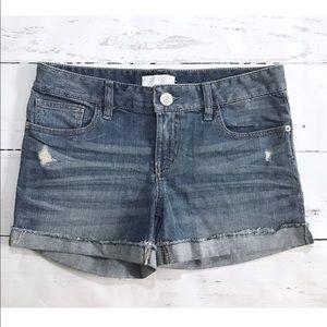 Express Denim Distressed Wash Jean Shorts NEW